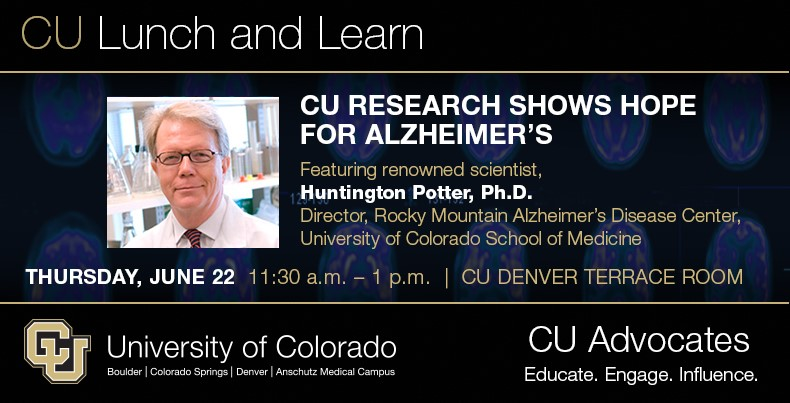 CU LUNCH AND LEARN: CU Research Shows Hope for Alzheimer's