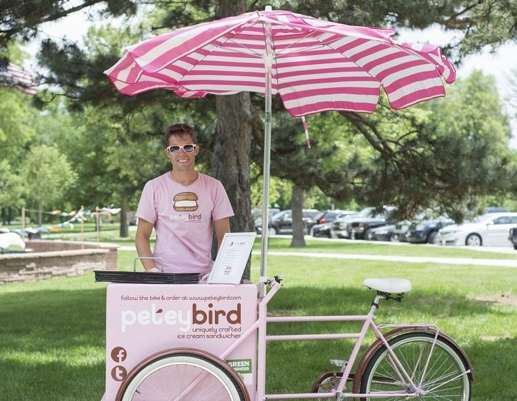Ice cream bike server
