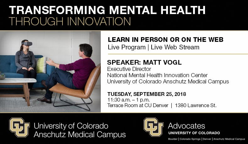 CU Transforming Mental Health Through Innovation | Educational Forum | Attending in Person