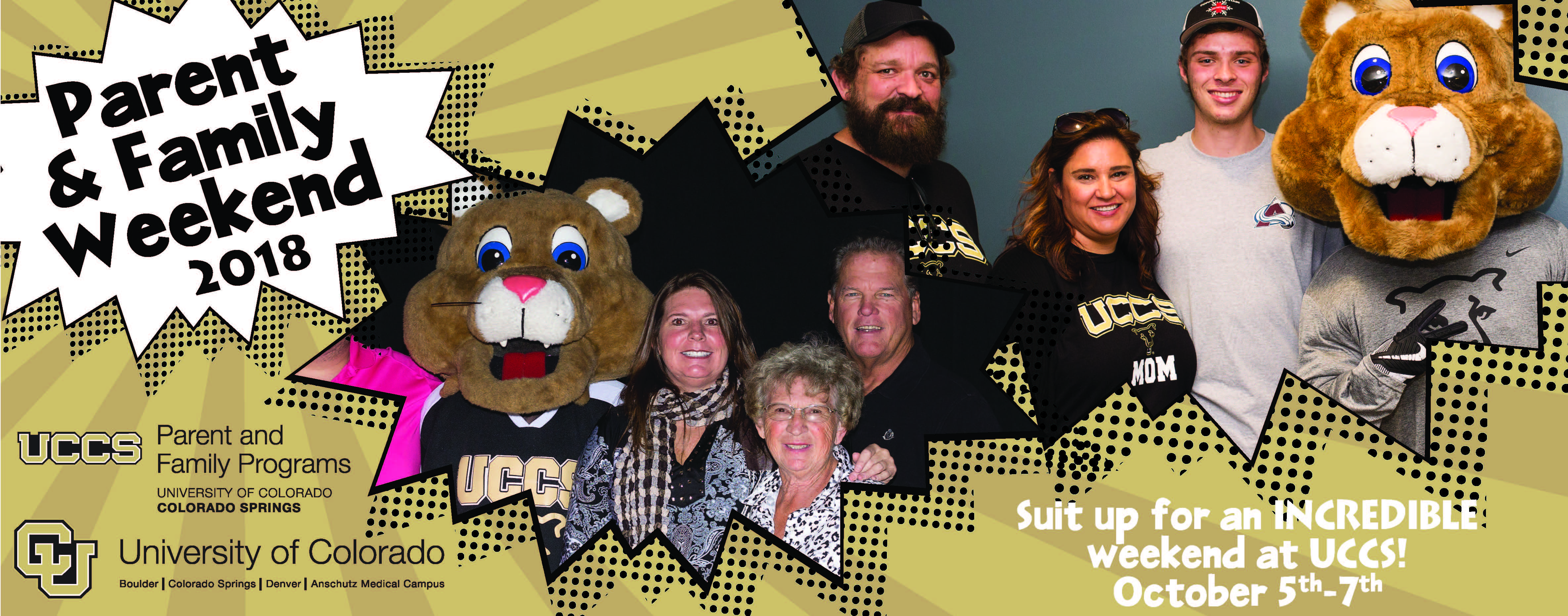 Parent and Family Weekend 2018 - October 5th, 6th, and 7th