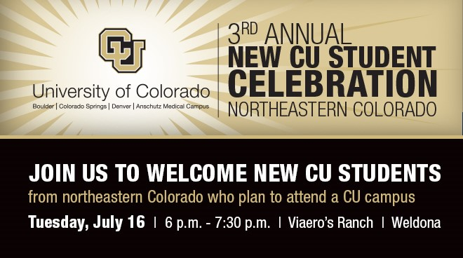 3rd Annual New CU Student Celebration in Northeastern Colorado