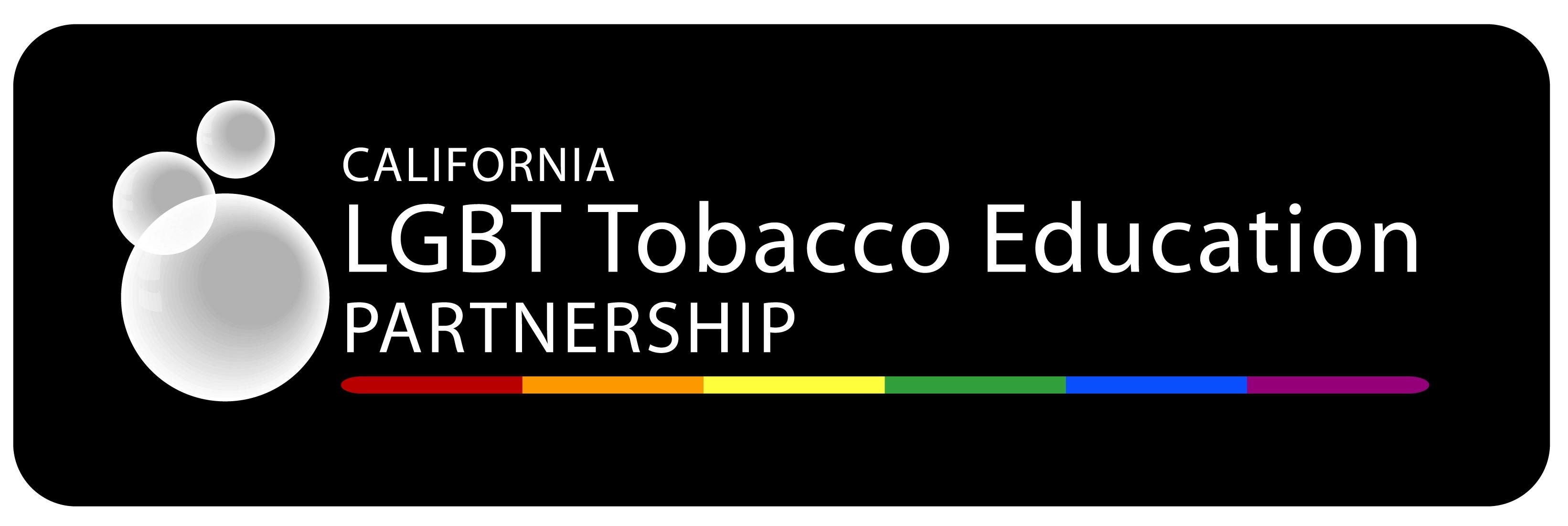 Logo for California LGBT Tobacco Education  Partne