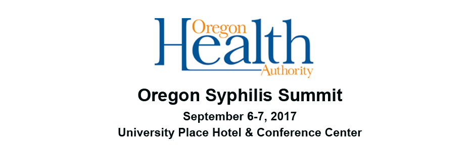 Oregon Syphilis Summit