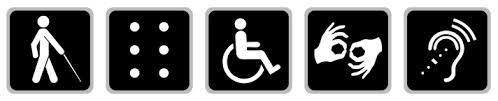updated access symbols