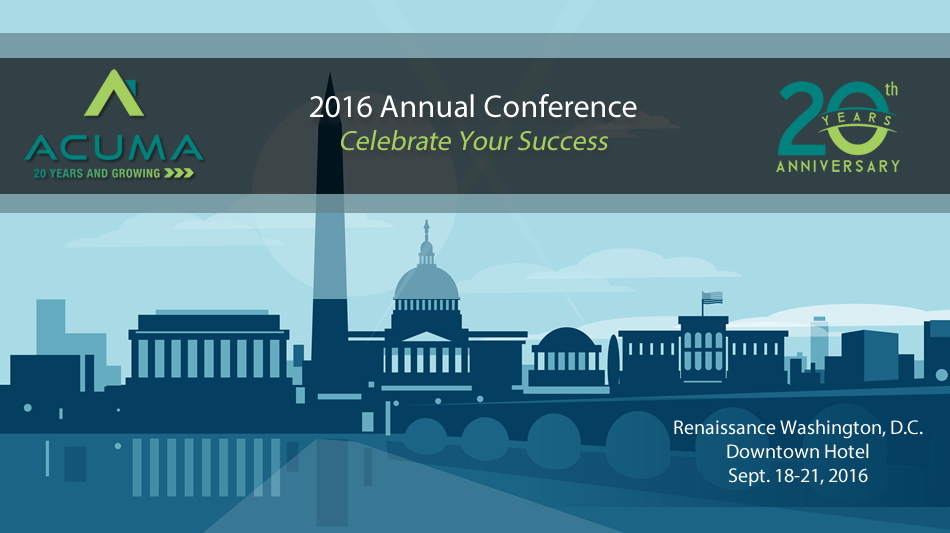 ACUMA 2016 20th Anniversary Annual Conference