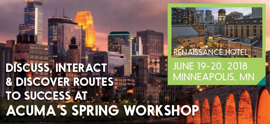 ACUMA 2018 Workshop Minneapolis, MN