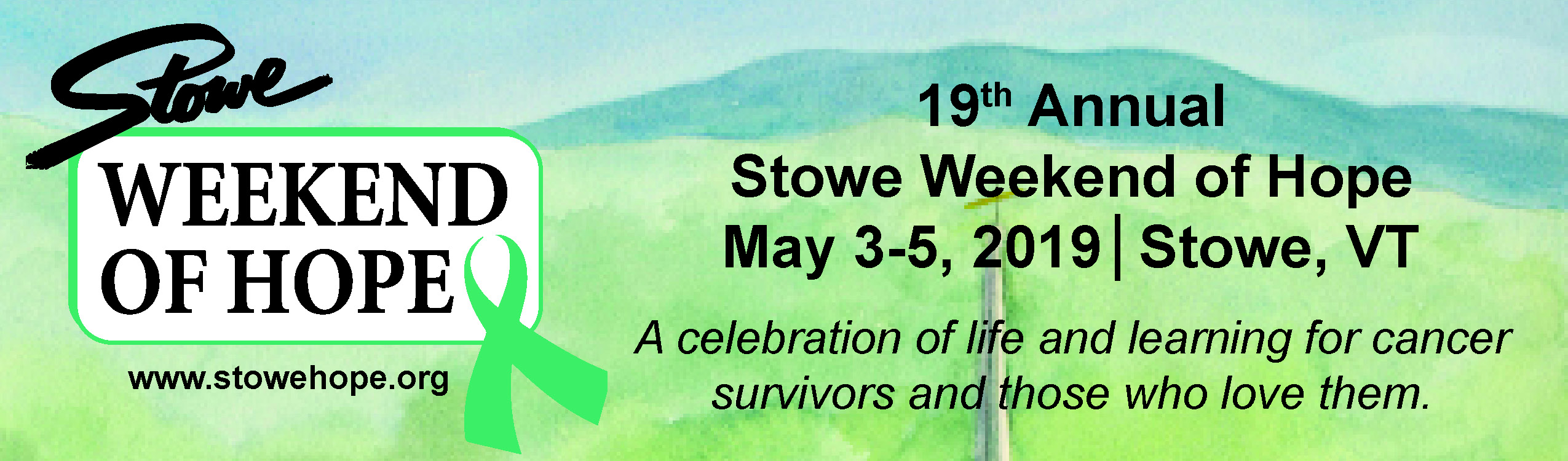 Stowe Weekend of Hope 2019 ~ Sponsors & Health Fair Exhibitors