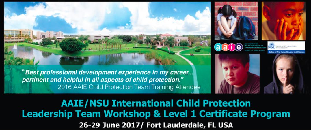 AAIE / NSU International Child Protection Leadership Workshop and Team Certificate Program