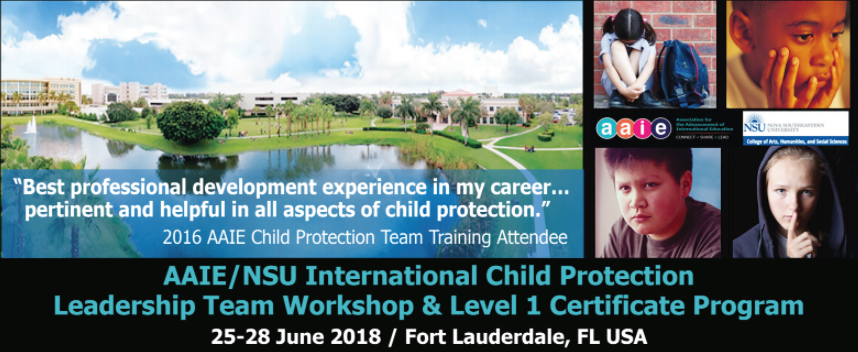 AAIE / NSU International Child Protection Leadership Team Training & Level 1 Certificate Program