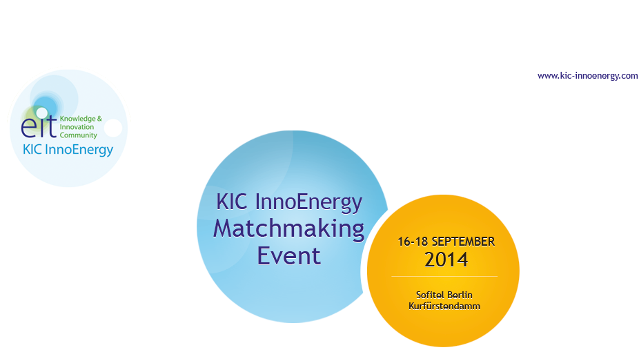 KIC InnoEnergy Matchmaking Event