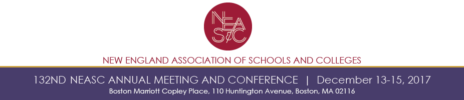 132nd NEASC Annual Meeting and Conference (December 13-15, 2017)