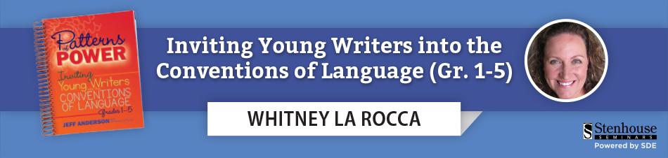 Patterns of Power, Whitney La Rocca