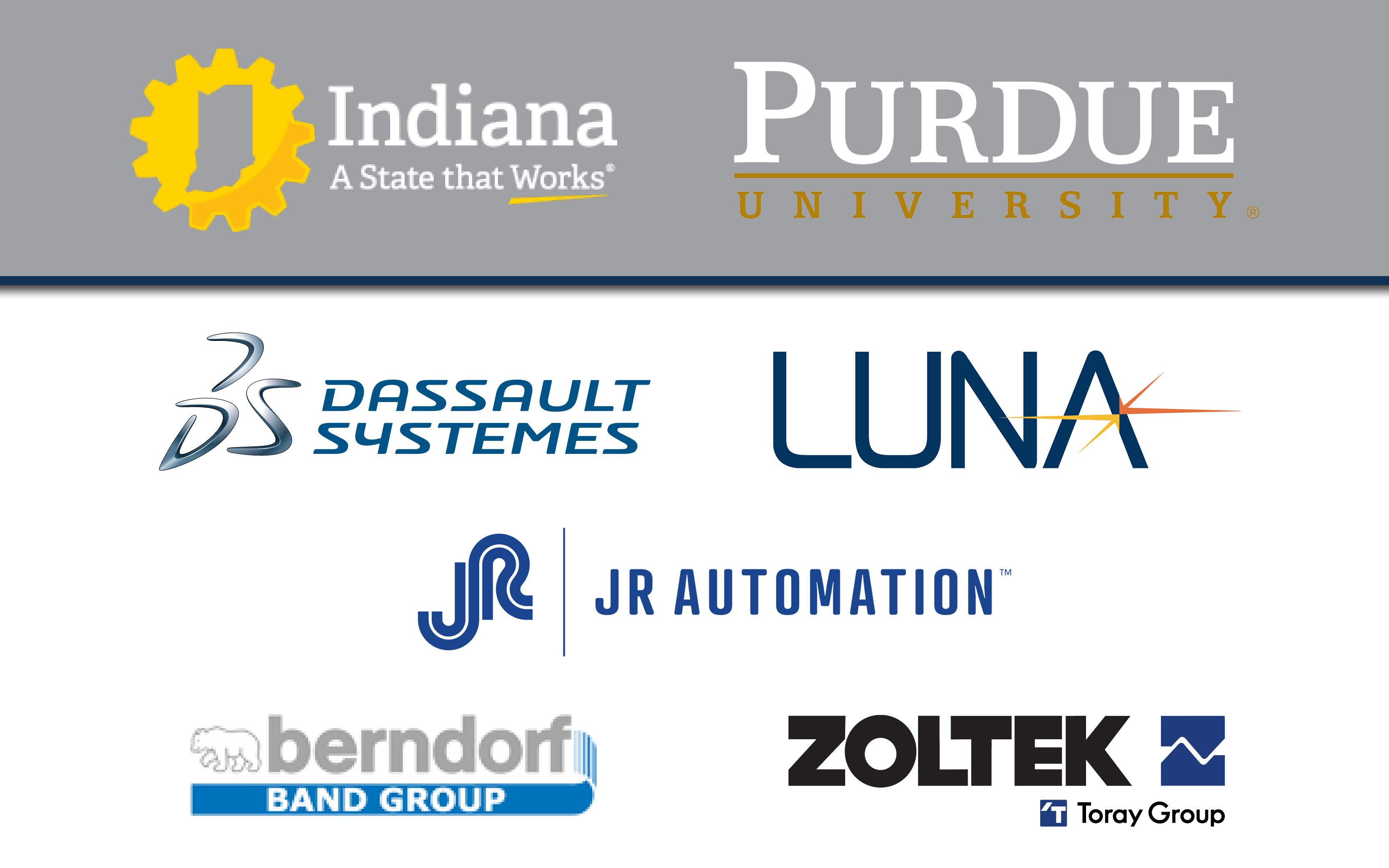 Sponsor logos graphic for website