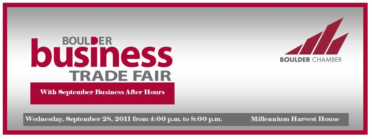 Boulder Business Trade Fair w/ September Business After Hours