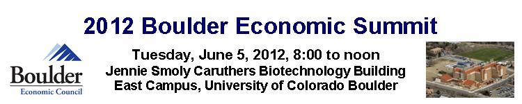 2012 Boulder Economic Summit