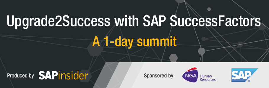 Upgrade2Success with SAP SuccessFactors - Sponsored by NGA and SAPinsider