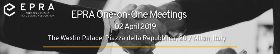 EPRA one-on-one meetings in Milan