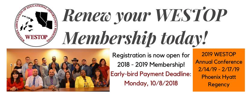 2018-2019 WESTOP Membership Drive