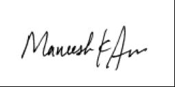 Maneesh Signature