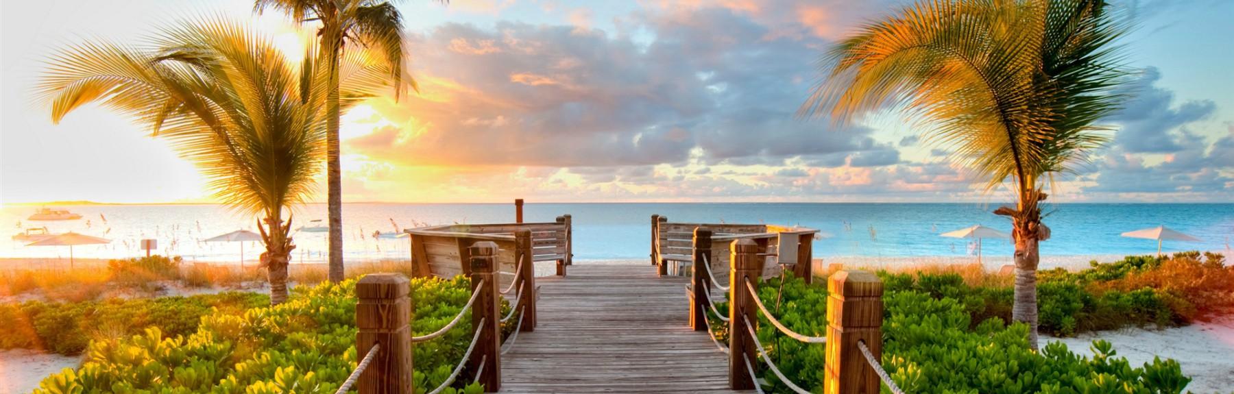 Caribbean-beaches-Turks-and-Caicos-sunset