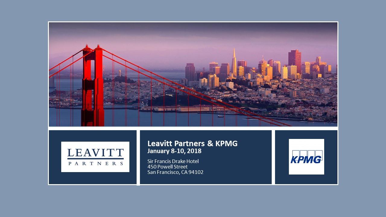 JP Morgan: Leavitt Partners & KPMG