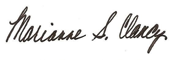 Marianne Clancy Signature - black
