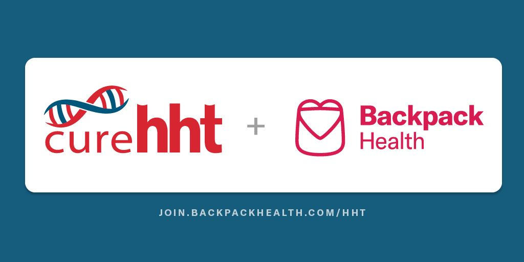 Cure HHT + BackPack Health (Sign)