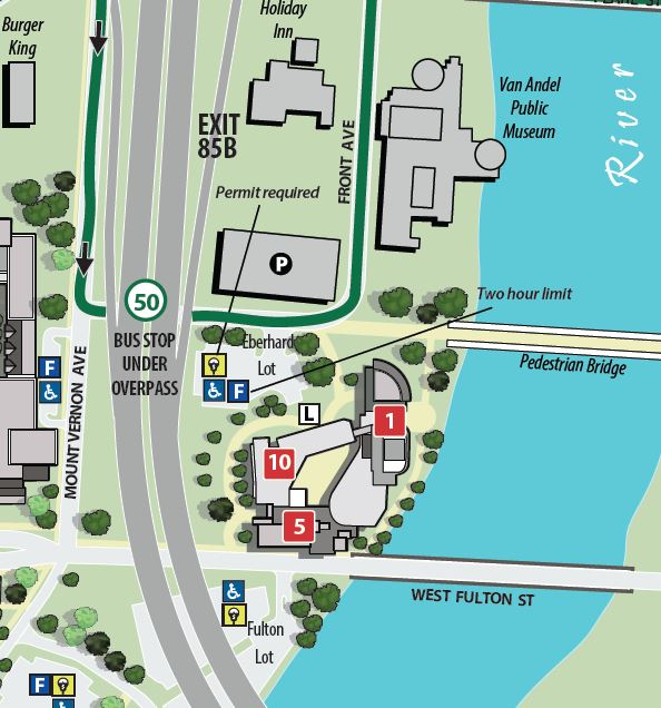 GVSU screen shot of map
