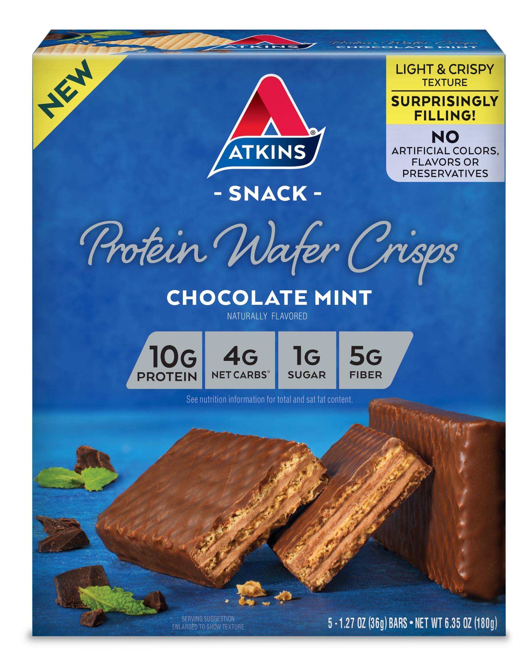 Atkins Chocolate Mint Protein Wafer Crisps-origina