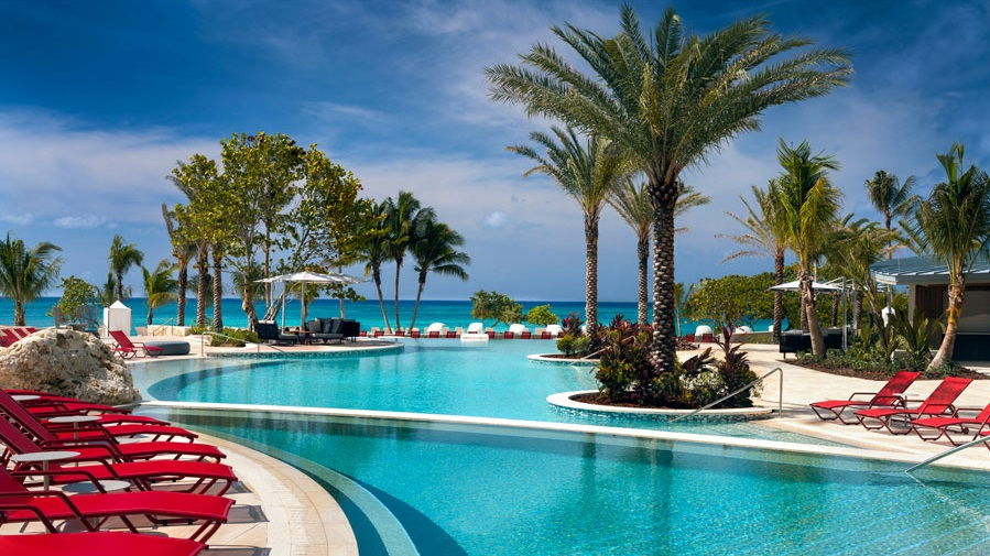 lounges around the pool