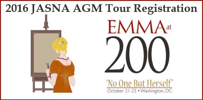2016 JASNA AGM Tour Registration