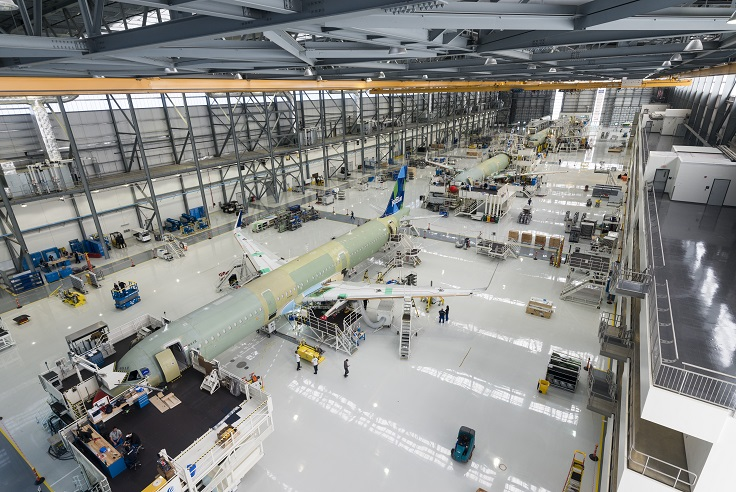 Airbus Plant Mobile Wide shot of FAL Hangar1. smallerjpg