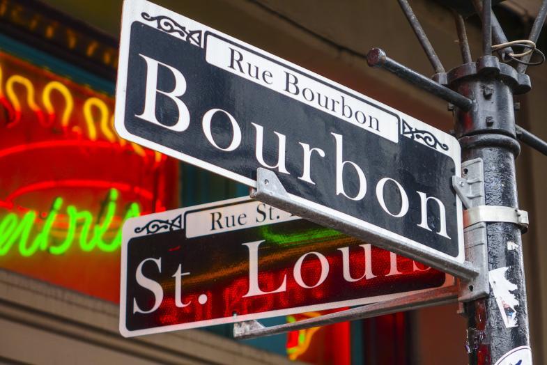 Bourbon St/ St. Louis St