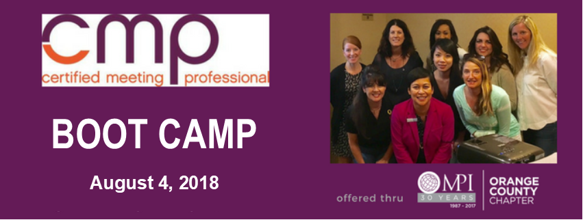 CMP Boot Camp @ Visit Anaheim Offices | Anaheim | California | United States
