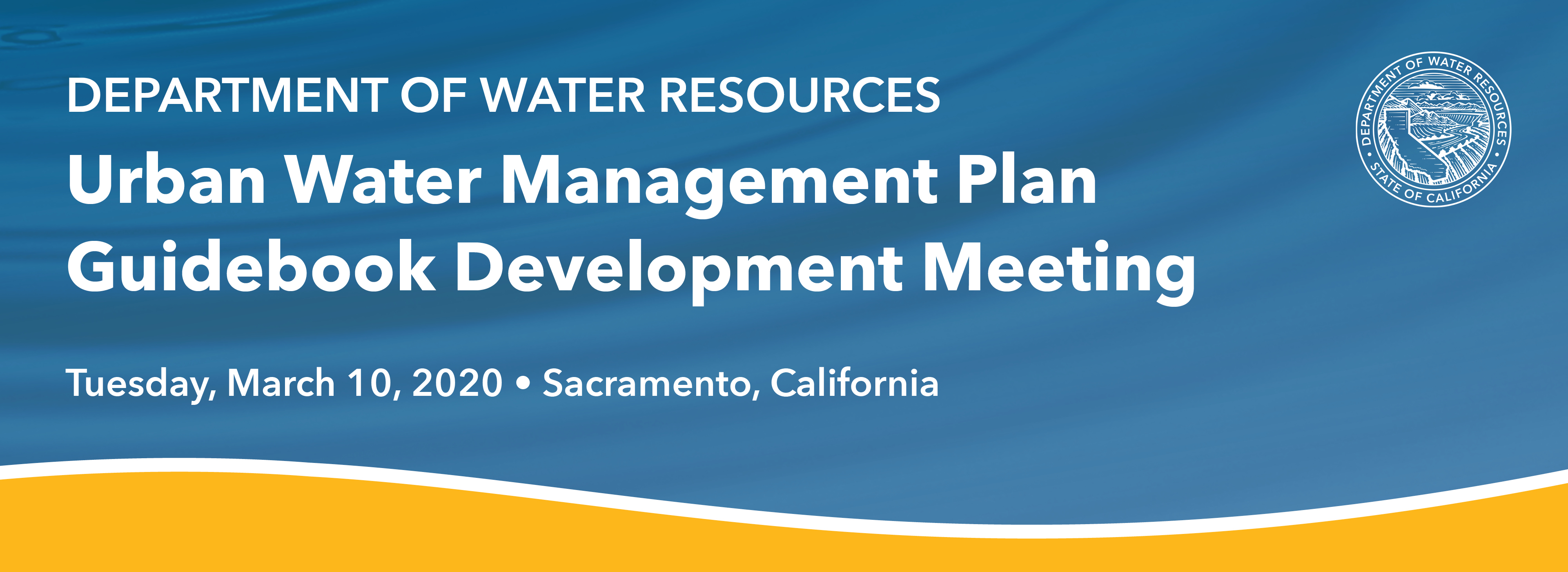 Urban Water Management Plan Guidebook Development Meeting
