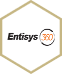 entisys logo in hexagon