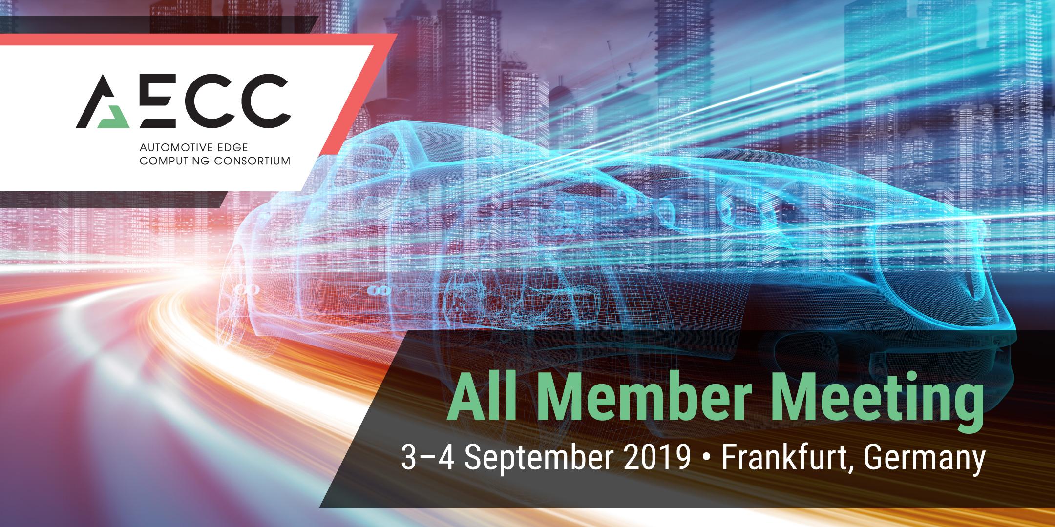 AECC September All Member Meeting - Frankfurt