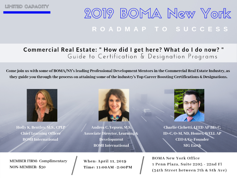 "ROADMAP TO SUCCESS: ""Commercial Real Estate - How did I get here, and what do I do now? "" Guide to Designations & Certifications"