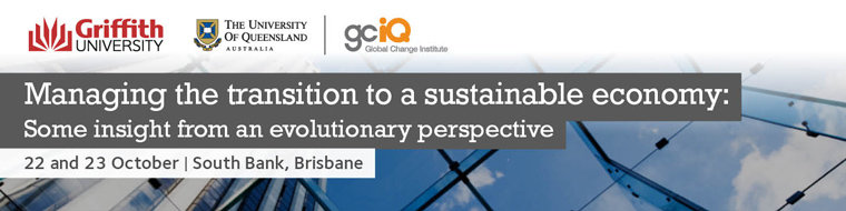 Managing the Transition to a Sustainable Economy