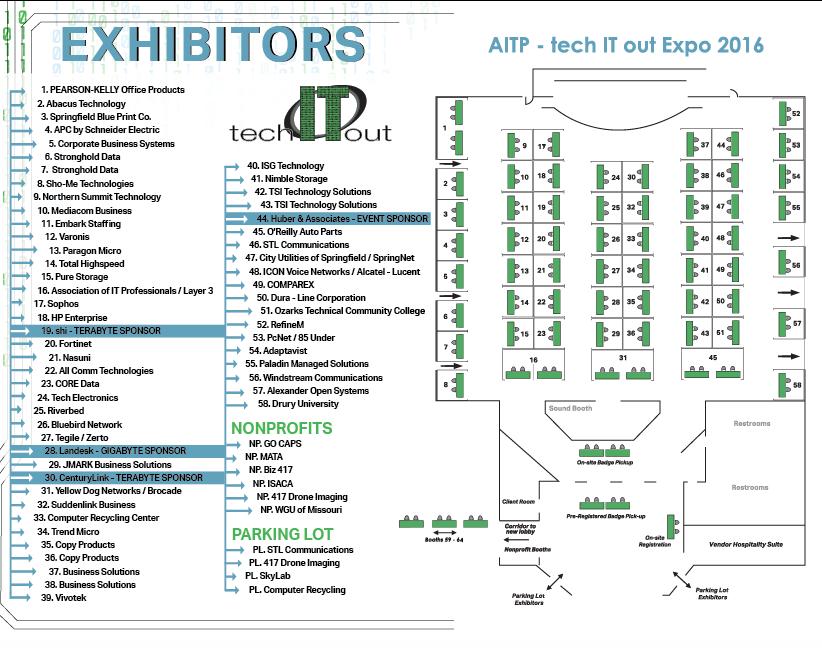 techITout Exhibitor Floor Plan