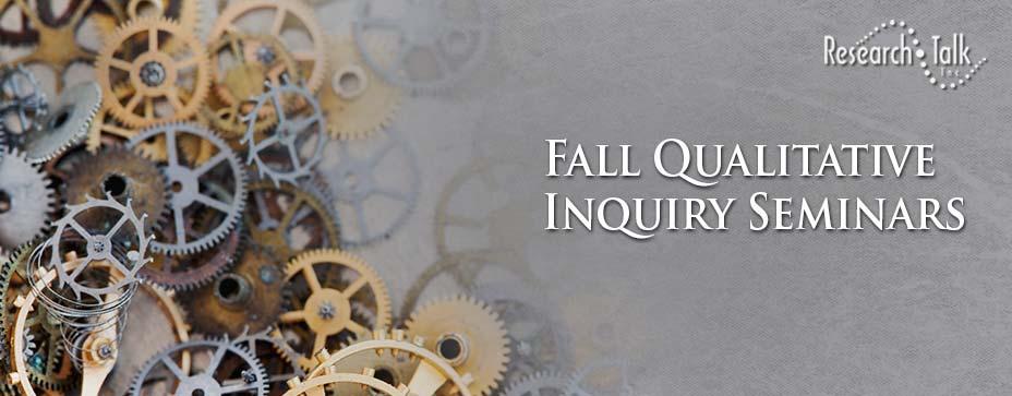 Fall 2020 Qualitative Inquiry Seminars