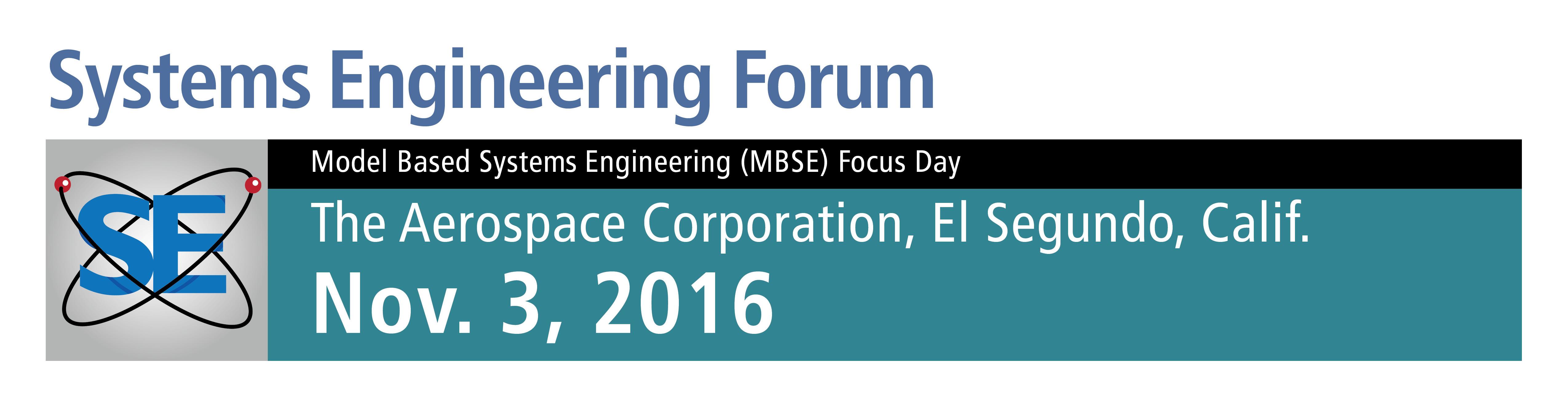 2016 Systems Engineering Forum