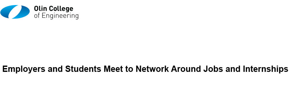 Olin College Spring Career Fair 2017