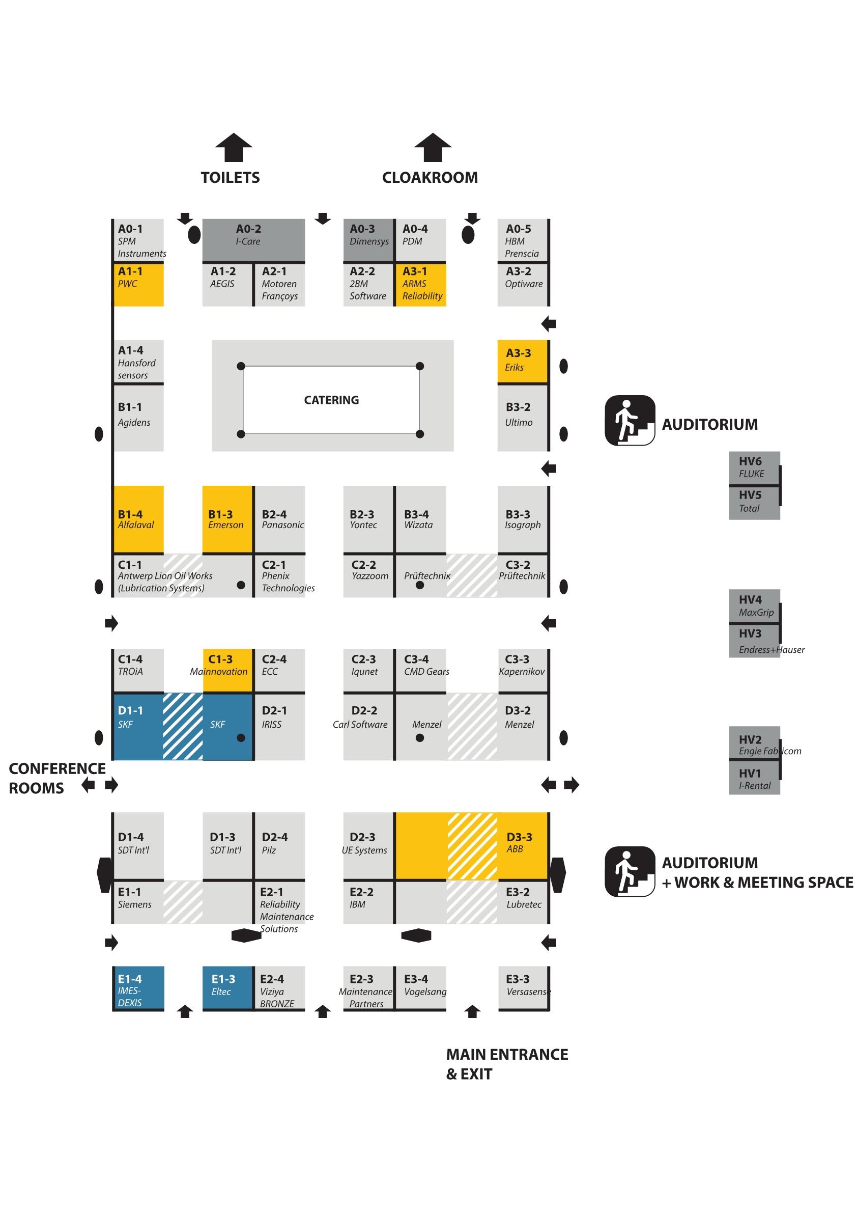 Euromaintenance 4.0 - exhibition map1