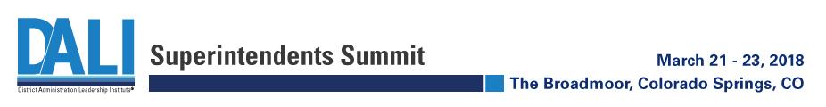 Superintendents Summit, March 2018