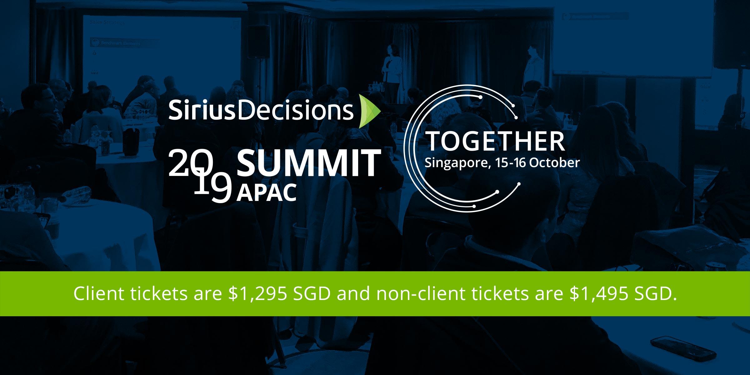 SiriusDecisions 2019 Summit APAC