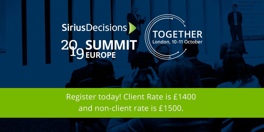 SiriusDecisions 2019 Summit Europe