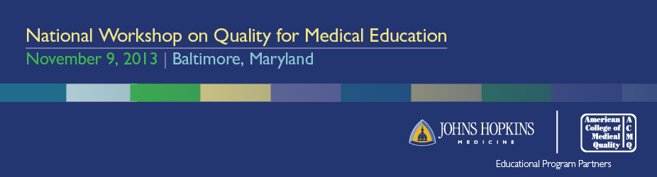 National Workshop on Quality for Medical Education