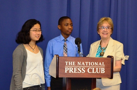 Becky Sipos and Students from John Poole Middle School