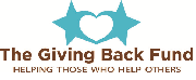 website giving back logo